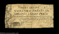 Colonial Notes:North Carolina, North Carolina March 9, 1754 26s8d Very Fine. Unusually ...