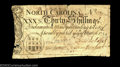 Colonial Notes:North Carolina, North Carolina March 9, 1754 30s Very Fine. There are some ...