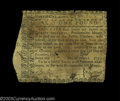 Colonial Notes:North Carolina, North Carolina December 22, 1758 20s Very Fine. This is an ...