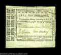 Colonial Notes:North Carolina, North Carolina April 23, 1761 10s Very Fine-Extremely Fine.