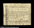 Colonial Notes:North Carolina, North Carolina December 1768 L5 Choice Very Fine. Bright, ...