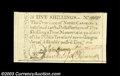 Colonial Notes:North Carolina, North Carolina December 1771 5s Gem New. A beautifully ...