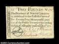 Colonial Notes:North Carolina, North Carolina December 1771 L2 Extremely Fine. A ...