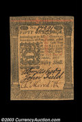 Colonial Notes:Pennsylvania, Pennsylvania October 1, 1773 50s About New. A beautifully ...