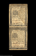 Colonial Notes:Pennsylvania, Pennsylvania December 8, 1775 20s Vertical Pair Extremely ...