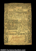 Colonial Notes:Rhode Island, Rhode Island November 6, 1775 6d Very Fine. There are ...
