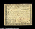 Colonial Notes:Rhode Island, Rhode Island July 2 1780 $4 Very Fine-Extremely Fine. A ...
