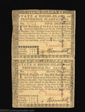 Colonial Notes:Rhode Island, Rhode Island July 2, 1780 $5 and $7 Unsevered Pair About New....
