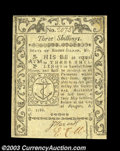 Colonial Notes:Rhode Island, Rhode Island May 1786 3s About New. Closely margined at ...