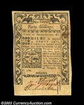 Colonial Notes:Rhode Island, Rhode Island May 1786 40s About New. A well signed, ...