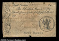 Colonial Notes:South Carolina, South Carolina March 6, 1776 L50 Very Fine. The note has a ...