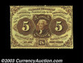 Fractional Currency:First Issue, Fr. 1229 5c First Issue Choice New. Beautifully perforated ...