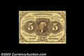 Fractional Currency:First Issue, Fr. 1229 5¢ First Issue Choice About New. Dated in the ...