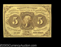 Fractional Currency:First Issue, Fr. 1230 5¢ First Issue Superb Gem New. A broadly margined,...