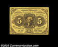 Fractional Currency:First Issue, Fr. 1230 5c First Issue Superb Gem New. Beautiful paper ...