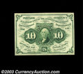 Fractional Currency:First Issue, Fr. 1242 10c First Issue Gem New. A fresh and original ...