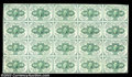 Fractional Currency:First Issue, Fr. 1242 10c First Issue Uncut Sheet of 20. Rather closely ...