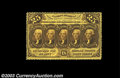 Fractional Currency:First Issue, Fr. 1279 25c First Issue Very Choice New. Bright and ...