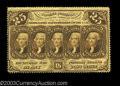 Fractional Currency:First Issue, Fr. 1280 25c First Issue Extremely Fine. Quarter folded, ...