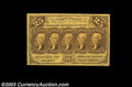 Fractional Currency:First Issue, Fr. 1281 25c First Issue Gem New. Perfectly centered on ...
