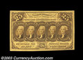 Fractional Currency:First Issue, Fr. 1281 25c First Issue Very Choice New. With a little ...