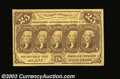 Fractional Currency:First Issue, Fr. 1281 25c First Issue Very Choice New. With a tiny ...
