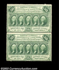 Fractional Currency:First Issue, Fr. 1311 50c First Issue Vertical Pair Very Choice New. ...