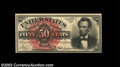 Fr. 1374 50c Fourth Issue Lincoln Choice New. Both the face and back have tight bottom margins on this otherwise fresh a...
