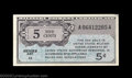 Military Payment Certificates: , Four Fractional MPC Notes. Series 471 5¢ About New, Series ... (4 notes)