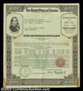 Miscellaneous:Other, United States Defense Series F Savings Bond $100 March 1943.