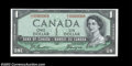 Canadian Currency, BC37a $1 1954 Choice Crisp Uncirculated. A lovely example ...