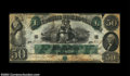 Confederate Notes:1861 Issues, T6 $50 1861. This is a rare note with a nice overall ...