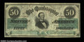 Confederate Notes:1861 Issues, T16 $50 1861. A lovely lightly circulated example of this ...