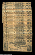 Confederate Notes:1862 Issues, Specialized Collection of T44 $1s. This large specialized ... (22notes)