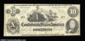 Confederate Notes:1862 Issues, T46 $10 1862. A nice, well margined example of Cr. # 344, ...