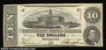 Confederate Notes:1863 Issues, T59 $10 1863. Choice About Uncirculated.
