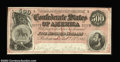 Confederate Notes:1864 Issues, T64 $500 1864. This gorgeous dark red background $500 ...