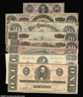 Confederate Notes:1864 Issues, 1864 CSA Set. A complete collection of 1864 Confederates ... (8 notes)