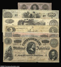 Confederate Notes:Group Lots, Assorted Confederate Type Notes. Included are a T36 $5 ... (6 notes)