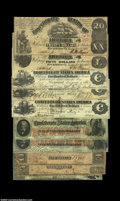 Confederate Notes:Group Lots, Various Confederate Types.