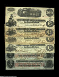 Confederate Notes:Group Lots, 1862 Confederate $100s. A nice group of six notes, ... (6 notes)