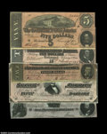 Confederate Notes:Group Lots, 1864 Confederates. A nice group of late CSA issues, ... (5 notes)