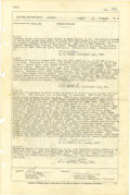 "Autographs:Military Figures, Pearl Harbor 1941 Log Entry of the USS Antares signed by sixofficers of the stores issue ship, two pages, 10"" x 15', fr..."