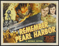 "Movie Posters:War, Remember Pearl Harbor (Republic, 1942). Half Sheet (22"" X 28"").War. Starring Donald M. Barry, Alan Curtis, Fay McKenzie and..."