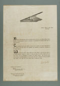 Autographs:Celebrities, Amazing Charles Lindbergh Signed Poster. On May 21, 1927, Charles Lindbergh stunned the world when he flew from New York to ...