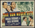 "Movie Posters:Adventure, The Sun Never Sets (Universal, 1939). Half Sheet (22"" X 28"").Drama. Starring Douglas Fairbanks Jr., Basil Rathbone, Virgini..."
