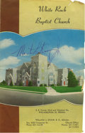 Autographs:Celebrities, Dr. Martin Luther King Signed Church Bulletin, dated October 22,1961, from the White Rock Baptist Church at 53rd and Chestn...