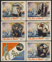 "The Soul of France (Paramount, 1928). Title Lobby Card (11"" X 14"") and Lobby Cards (5) (11"" X 14"")..."