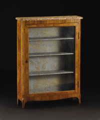 A Nineteenth Century Louis XVI Style Marble-Top Vitrine  Unknown maker, French Nineteenth Century Satinwood, marble Unm...
