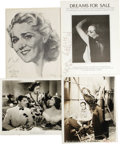 """Movie/TV Memorabilia:Autographs and Signed Items, Great Actresses Signed Photos. Includes a b&w 8"""" x 10"""" promo still from The Way of a Maid With a Man signed by Eve Arden..."""